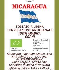 Etichetta Nicaragua BIO San Juan